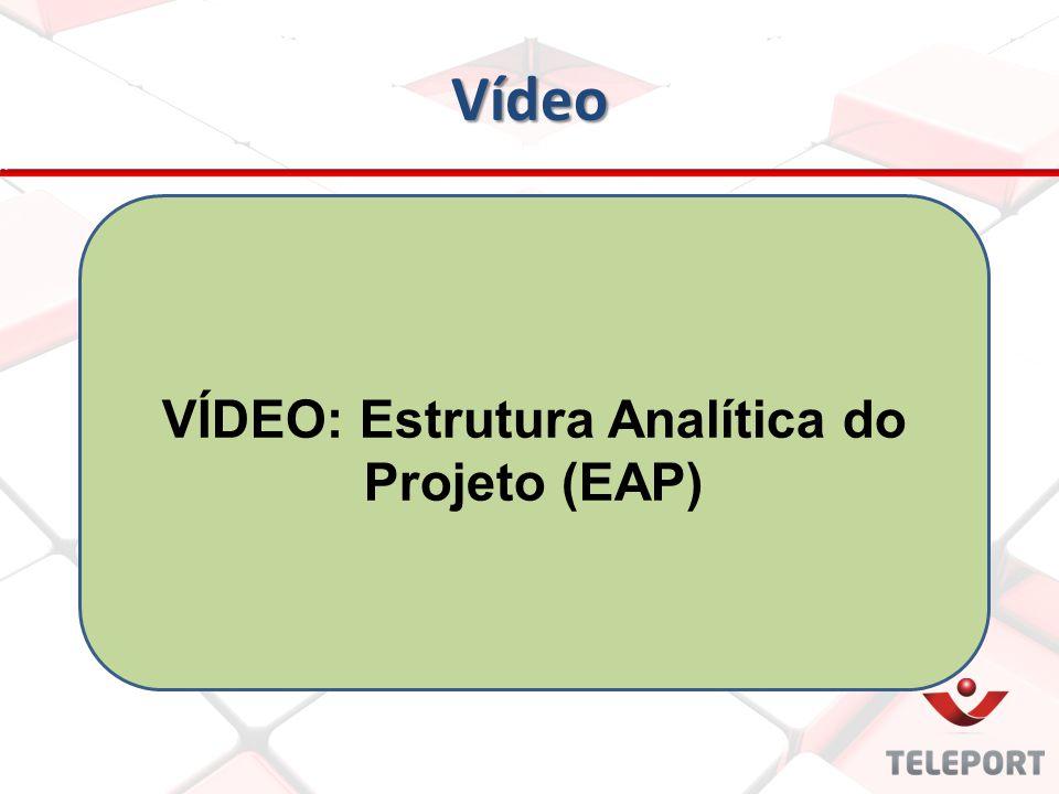 VÍDEO: Estrutura Analítica do Projeto (EAP)