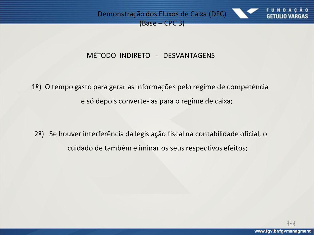 Demonstração dos Fluxos de Caixa (DFC) (Base – CPC 3)