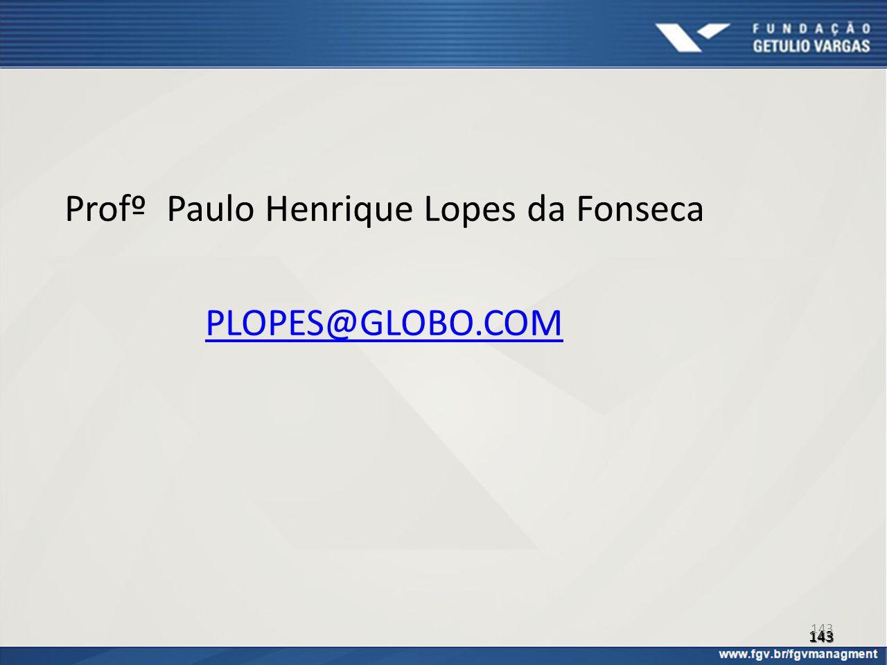 Profº Paulo Henrique Lopes da Fonseca