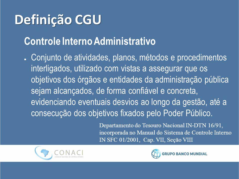 Definição CGU Controle Interno Administrativo