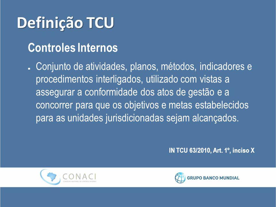Definição TCU Controles Internos