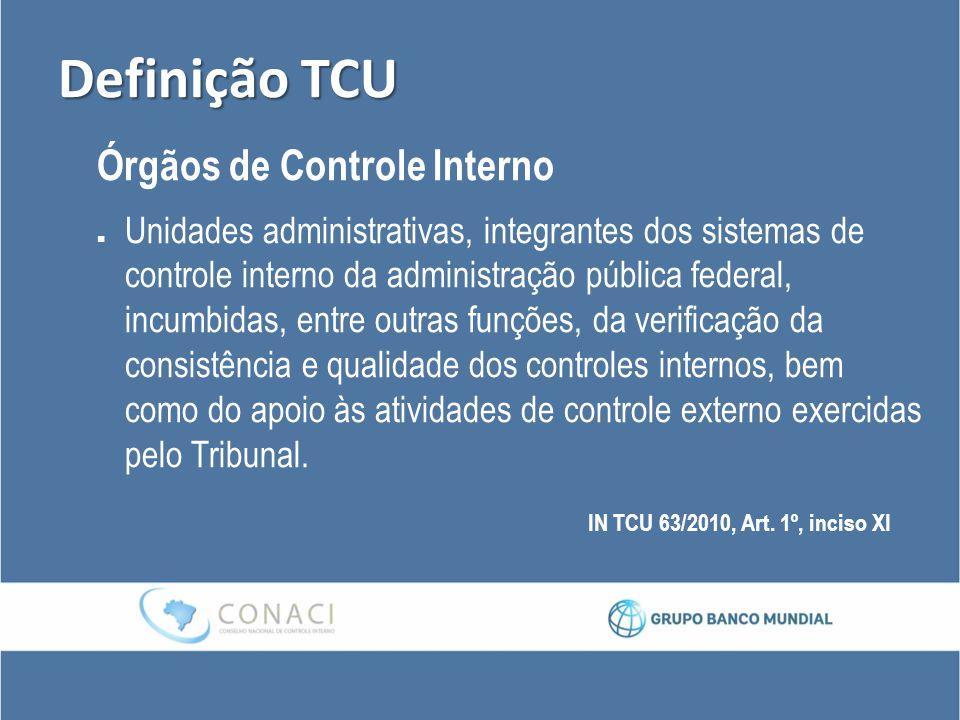 Definição TCU Órgãos de Controle Interno