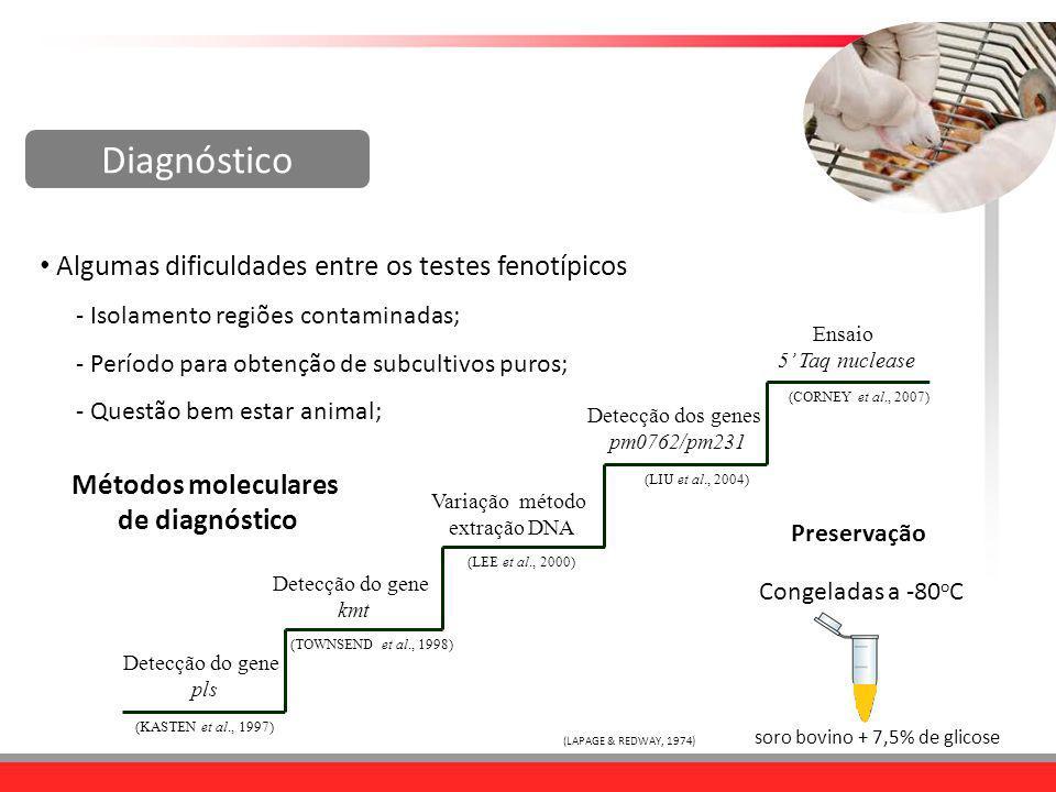 Diagnóstico Algumas dificuldades entre os testes fenotípicos