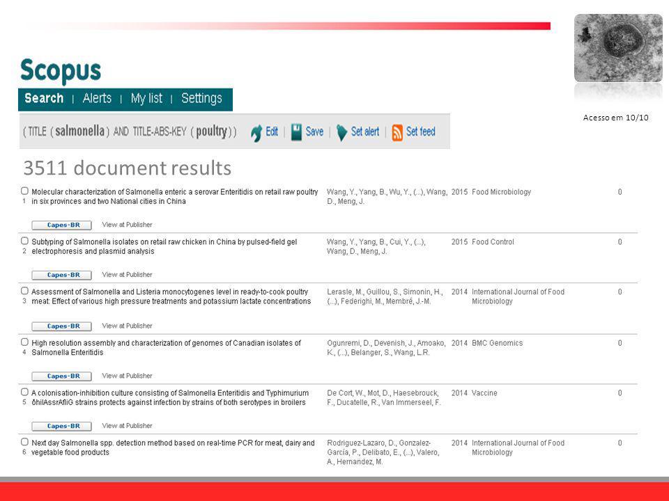 Acesso em 10/10 3511 document results