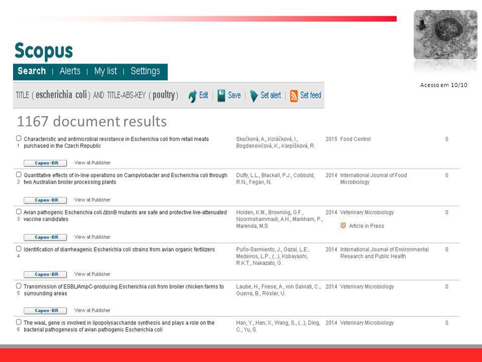Acesso em 10/10 1167 document results