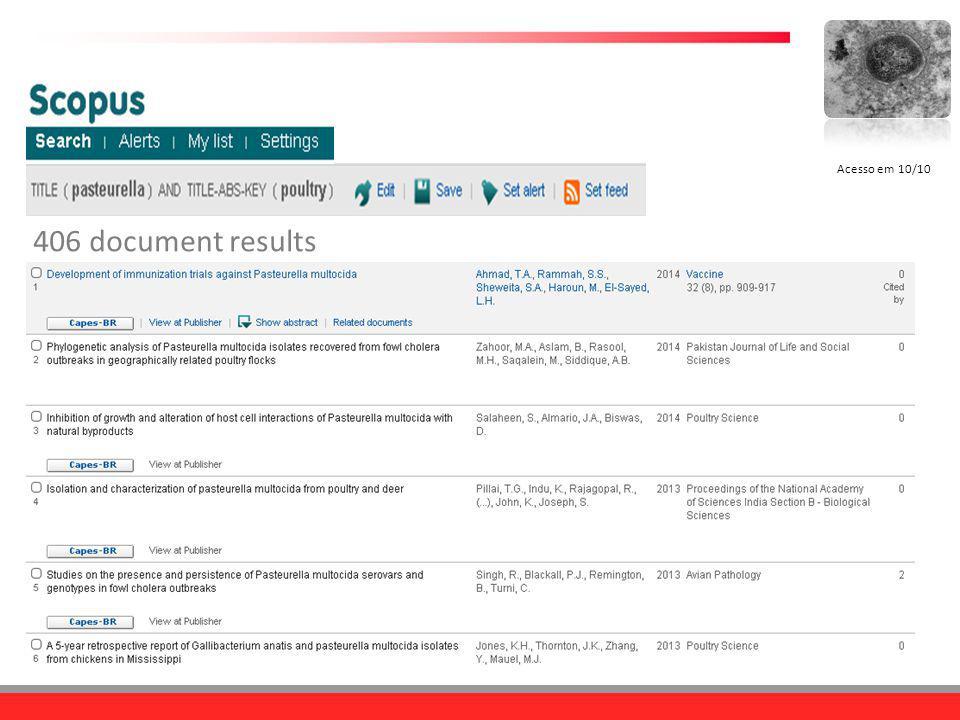 Acesso em 10/10 406 document results
