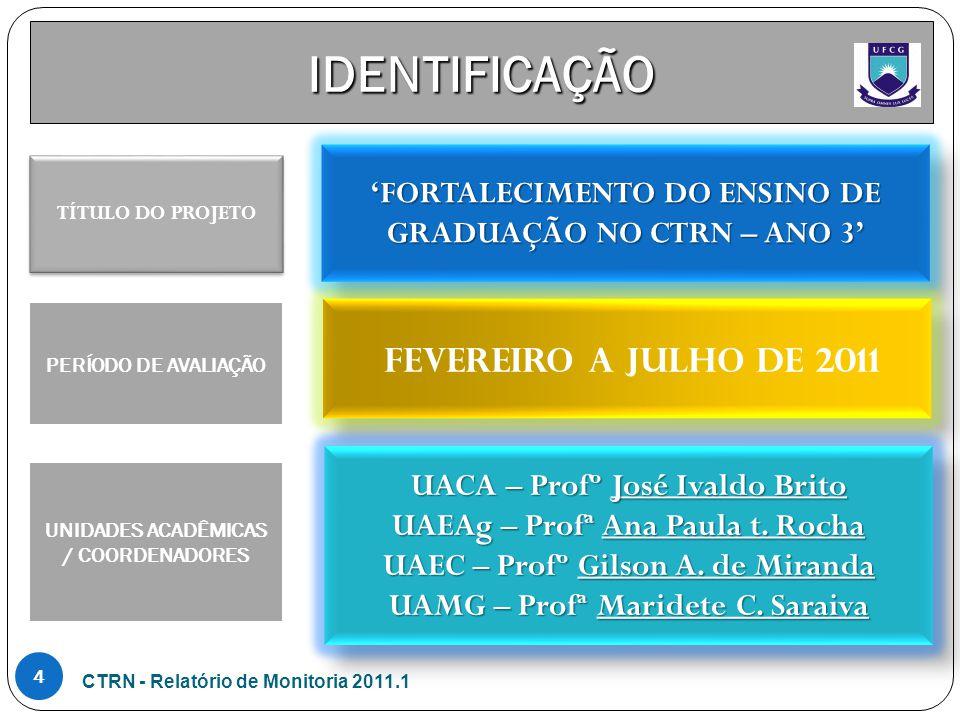 IDENTIFICAÇÃO 'FORTALECIMENTO DO ENSINO DE GRADUAÇÃO NO CTRN – ANO 3'