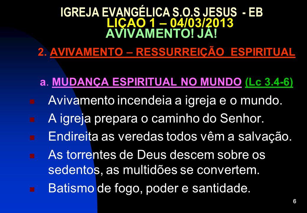 2. AVIVAMENTO – RESSURREIÇÃO ESPIRITUAL