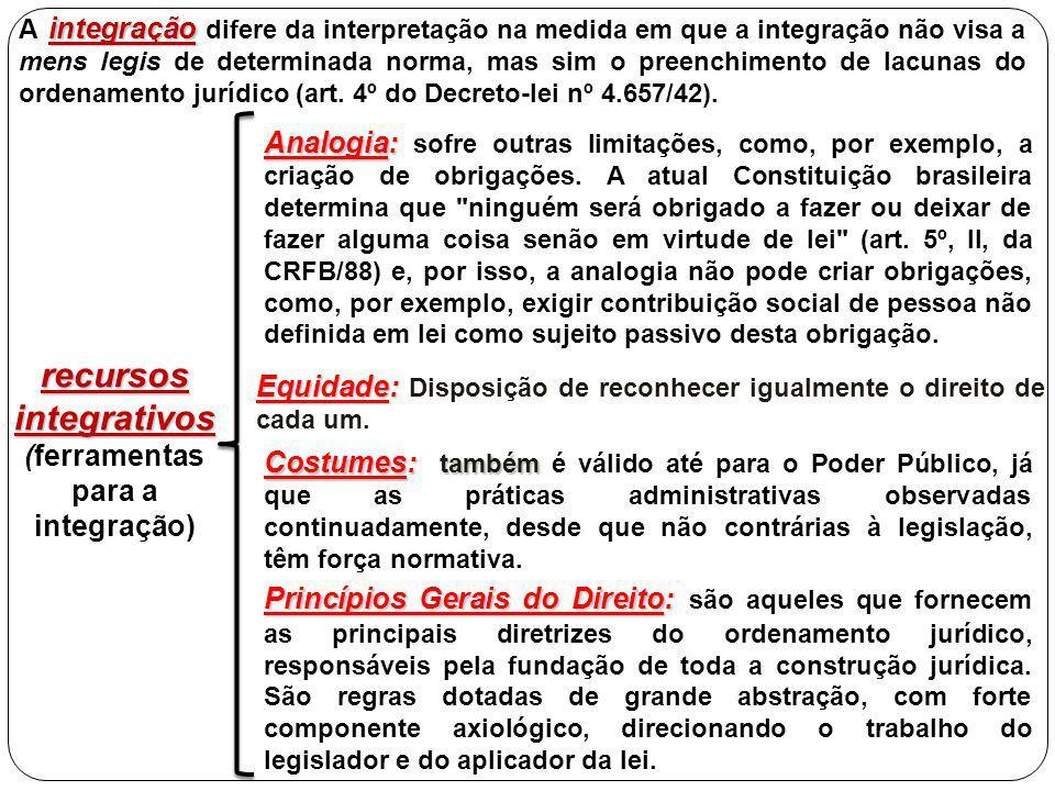 recursos integrativos (ferramentas para a integração)