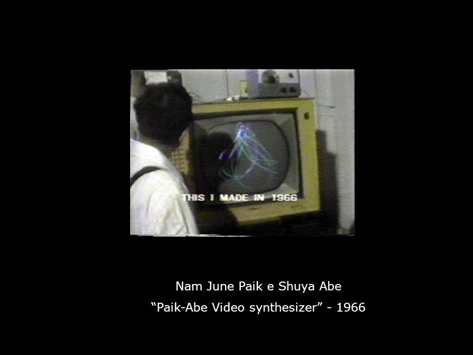 Nam June Paik e Shuya Abe Paik-Abe Video synthesizer - 1966