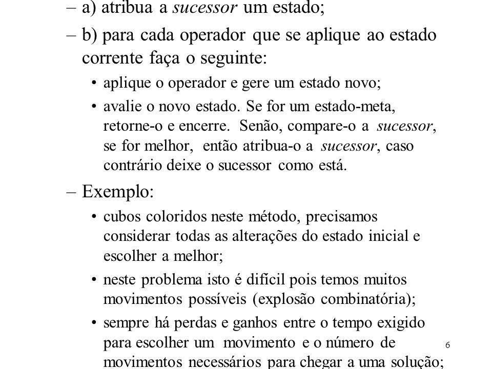 a) atribua a sucessor um estado;