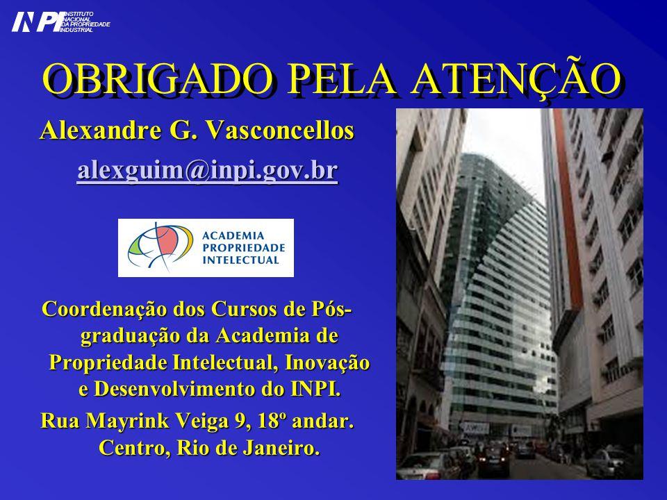 OBRIGADO PELA ATENÇÃO I P Alexandre G. Vasconcellos