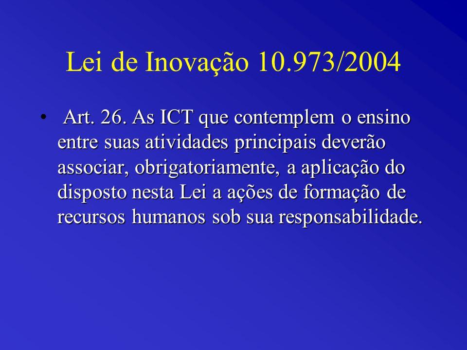 Lei de Inovação 10.973/2004