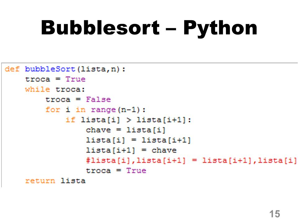 Bubblesort – Python