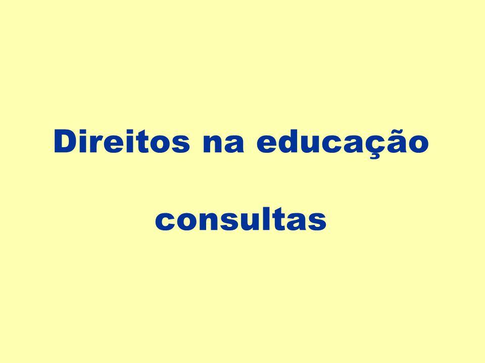 Direitos na educação consultas
