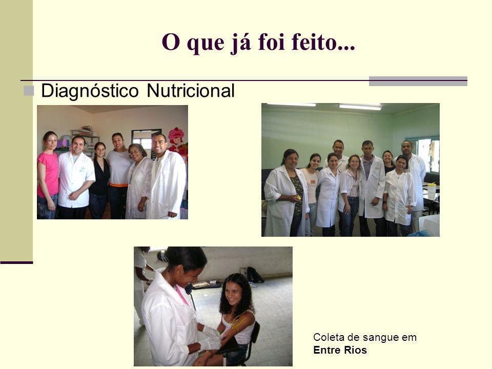 O que já foi feito... Diagnóstico Nutricional