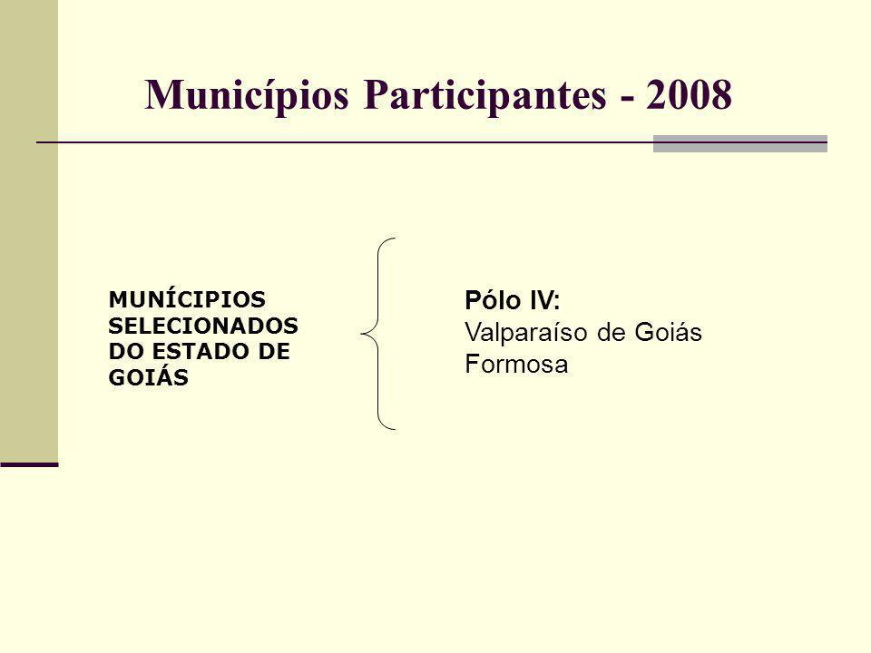 Municípios Participantes - 2008