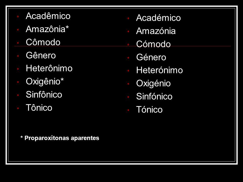 Acadêmico Académico Amazônia* Amazónia Cômodo Cómodo Gênero Género