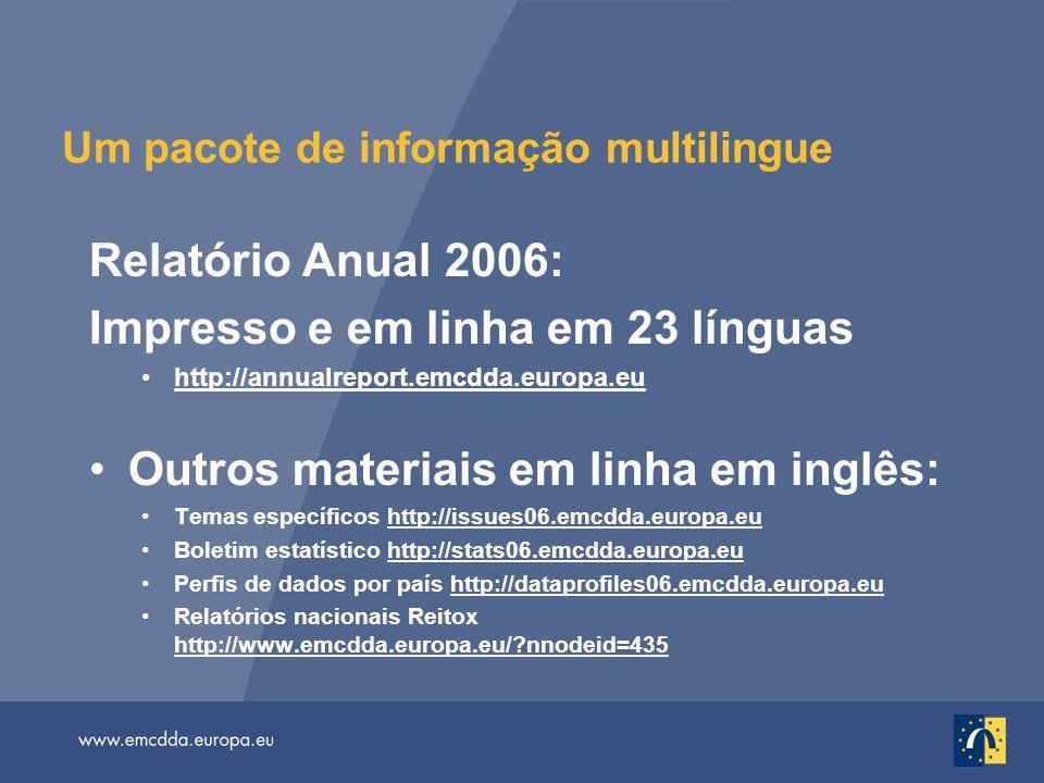Um pacote de informação multilingue