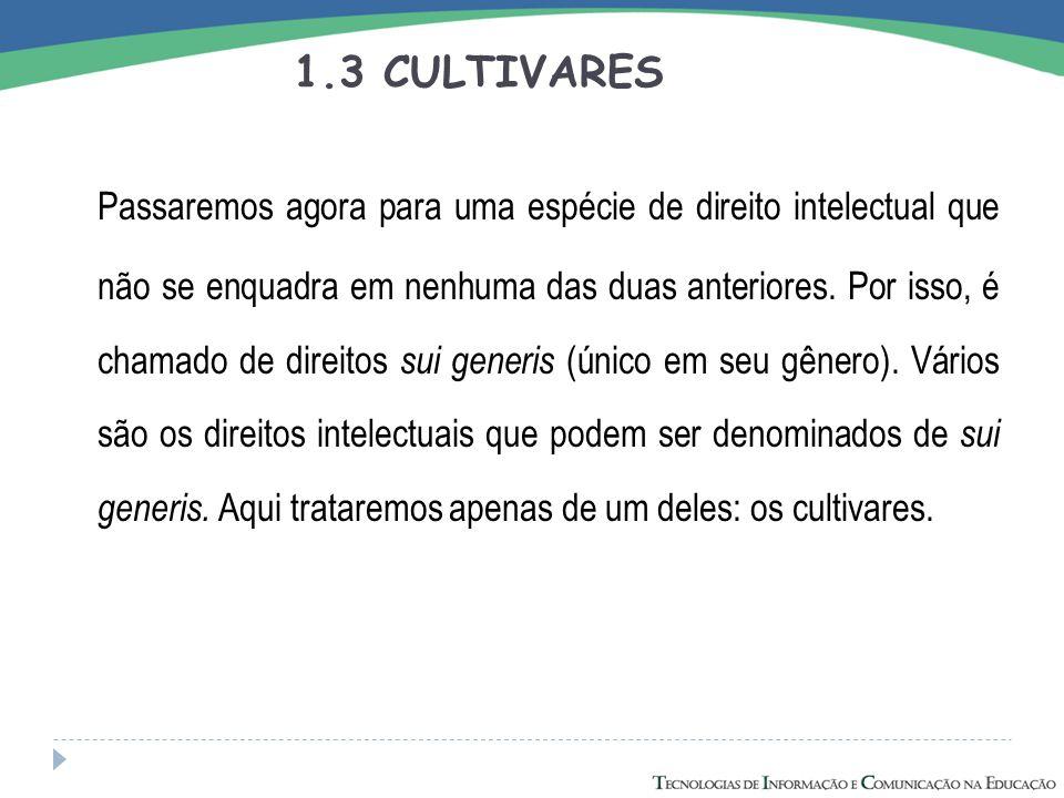 1.3 CULTIVARES