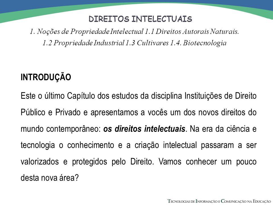 DIREITOS INTELECTUAIS