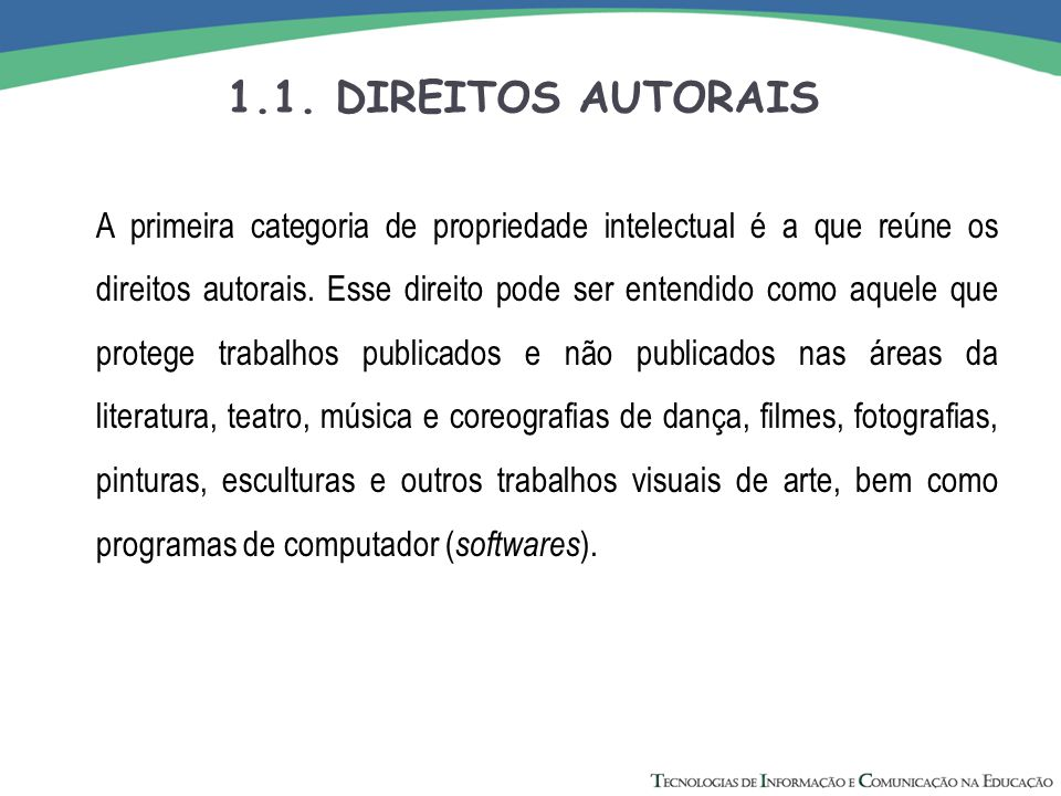 1.1. DIREITOS AUTORAIS