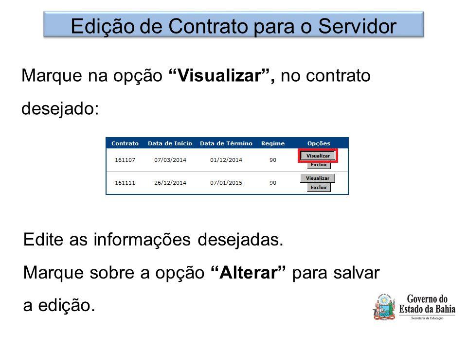 Edição de Contrato para o Servidor