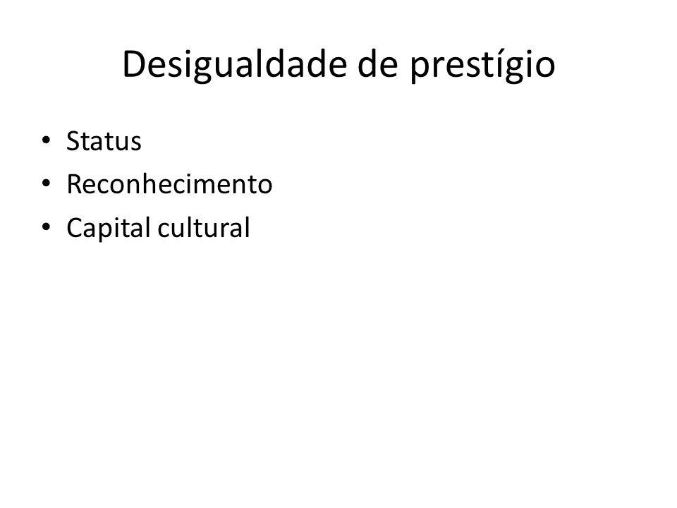 Desigualdade de prestígio