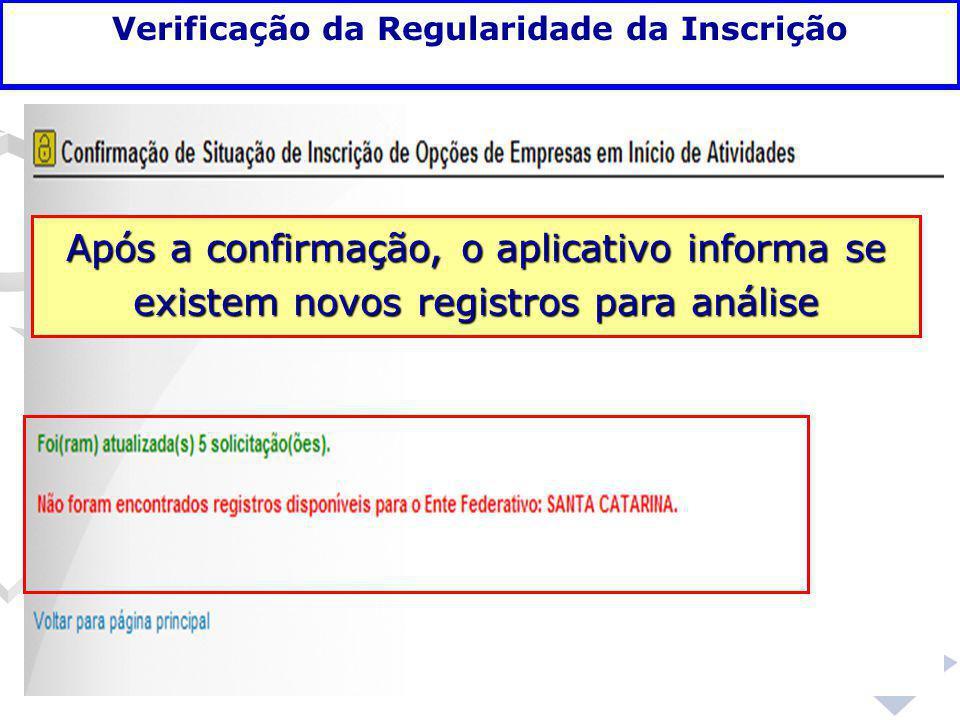 Verificação da Regularidade da Inscrição
