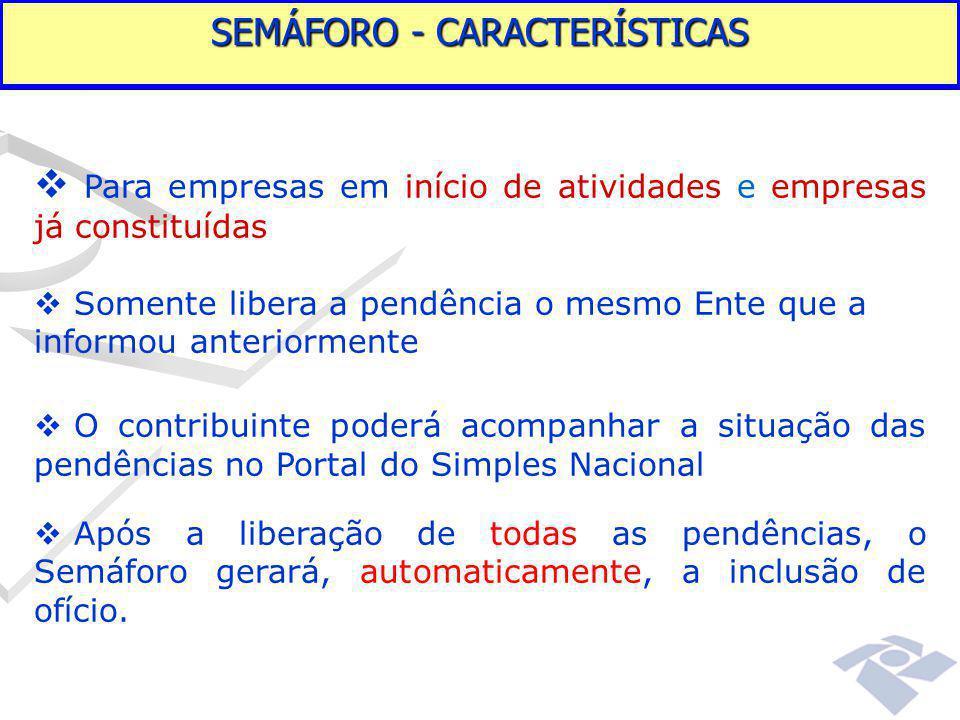 SEMÁFORO - CARACTERÍSTICAS