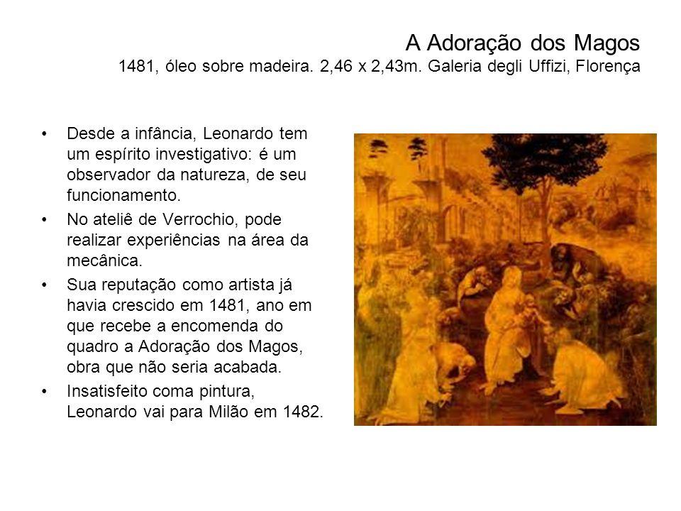 A Adoração dos Magos 1481, óleo sobre madeira. 2,46 x 2,43m