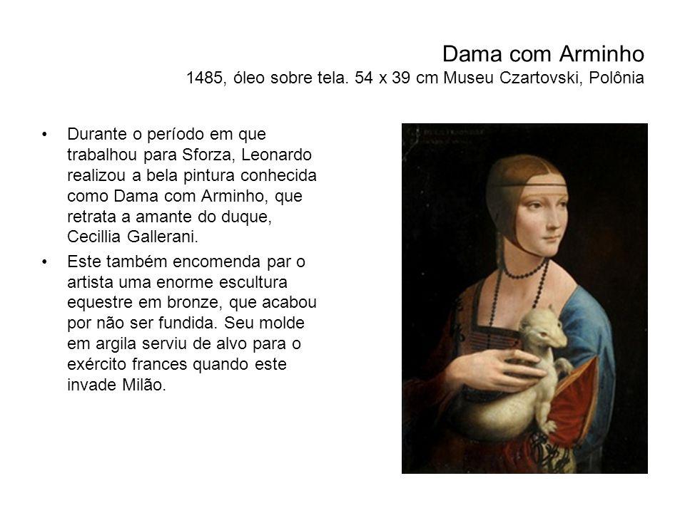 Dama com Arminho 1485, óleo sobre tela