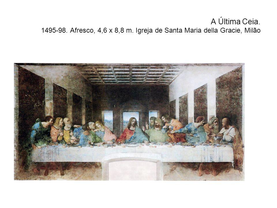 A Última Ceia. 1495-98. Afresco, 4,6 x 8,8 m