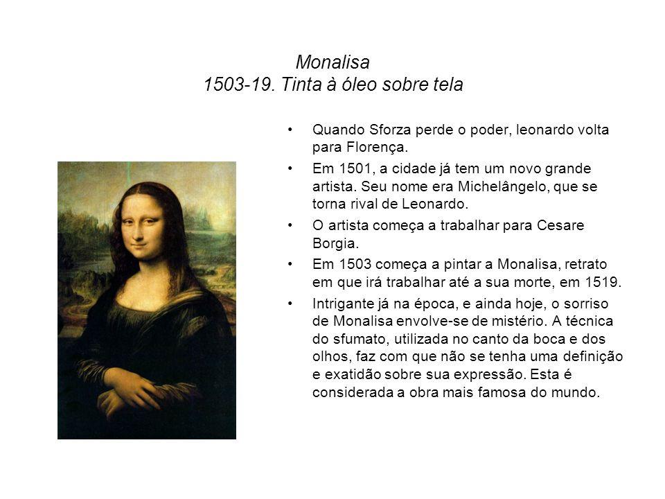 Monalisa 1503-19. Tinta à óleo sobre tela