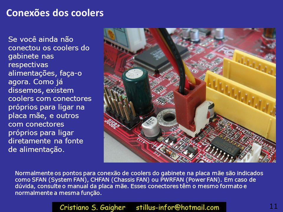 Conexões dos coolers
