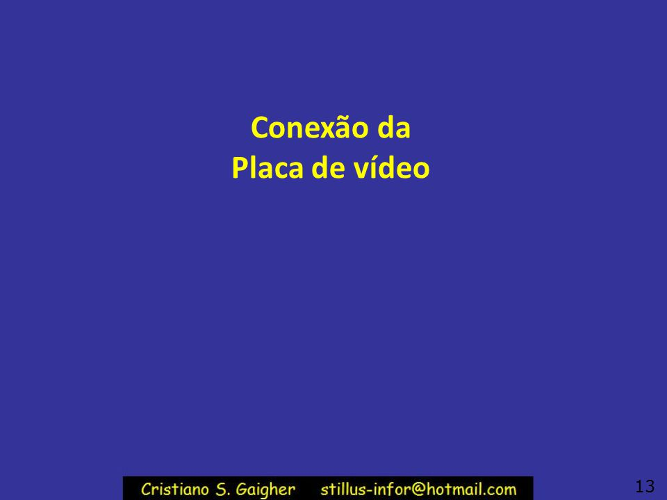 Conexão da Placa de vídeo