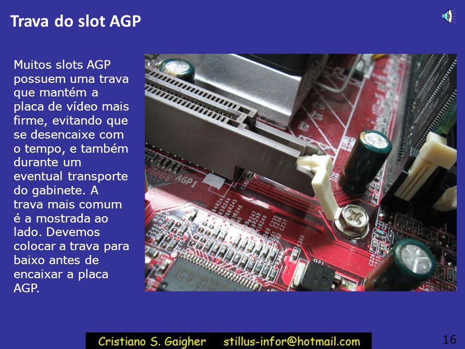 Trava do slot AGP