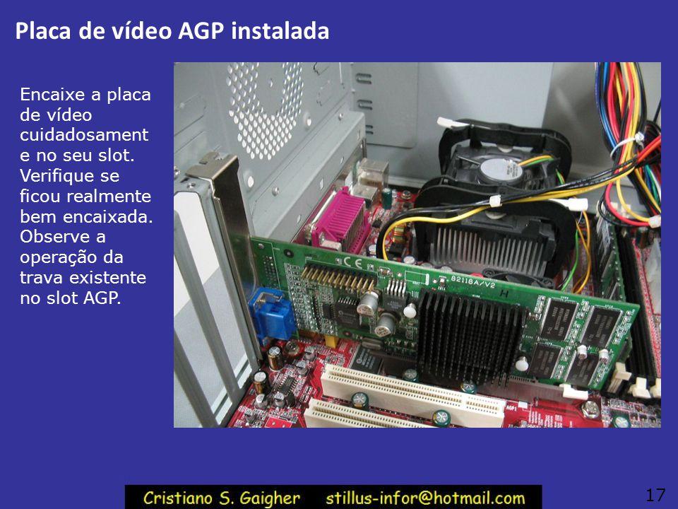 Placa de vídeo AGP instalada