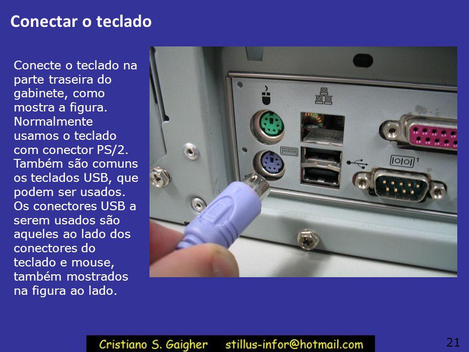 Conectar o teclado