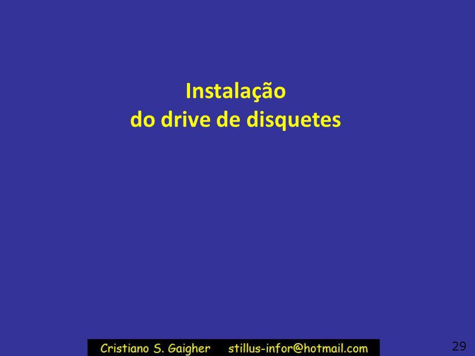 Instalação do drive de disquetes