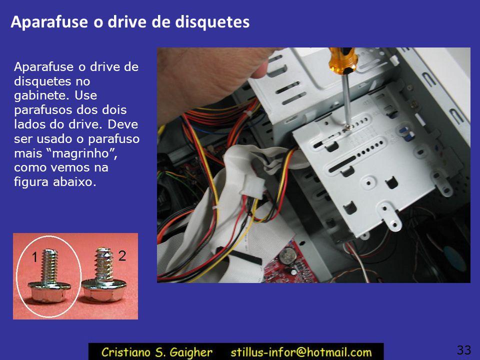 Aparafuse o drive de disquetes