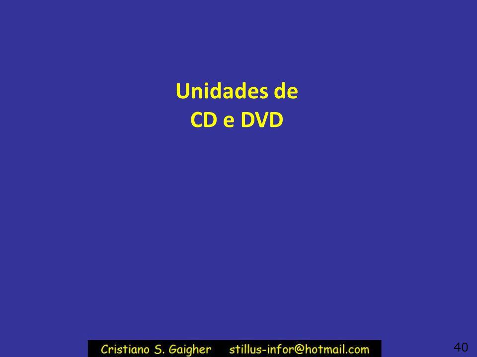 Unidades de CD e DVD 40
