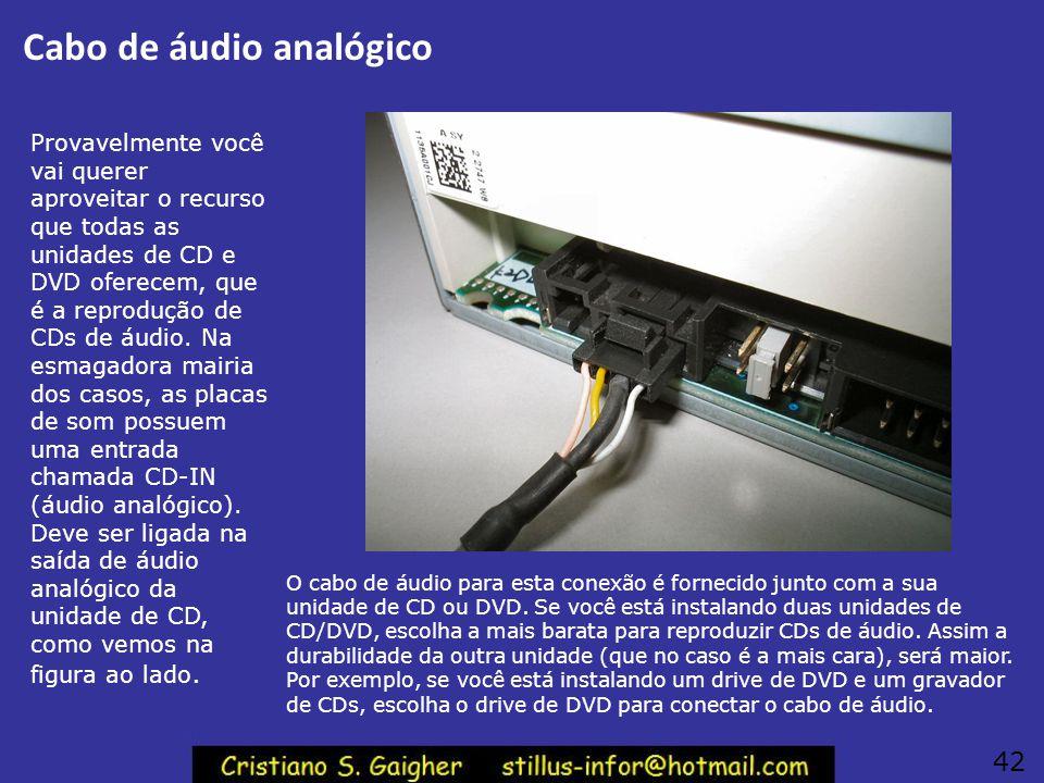 Cabo de áudio analógico