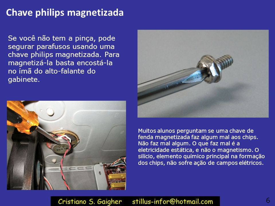 Chave philips magnetizada