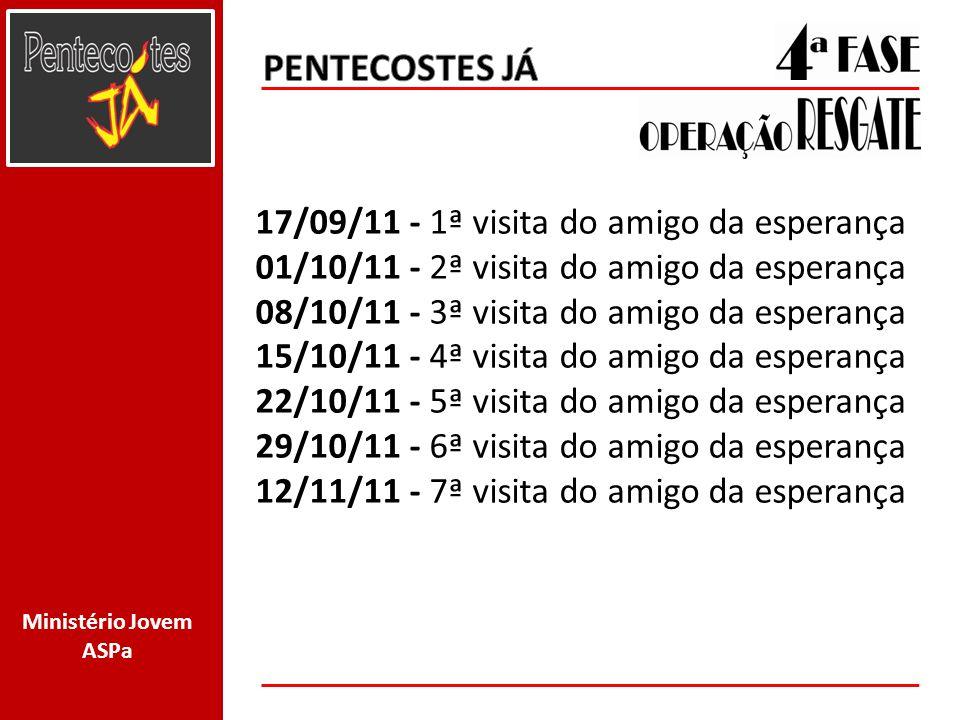 PENTECOSTES JÁ 17/09/11 - 1ª visita do amigo da esperança