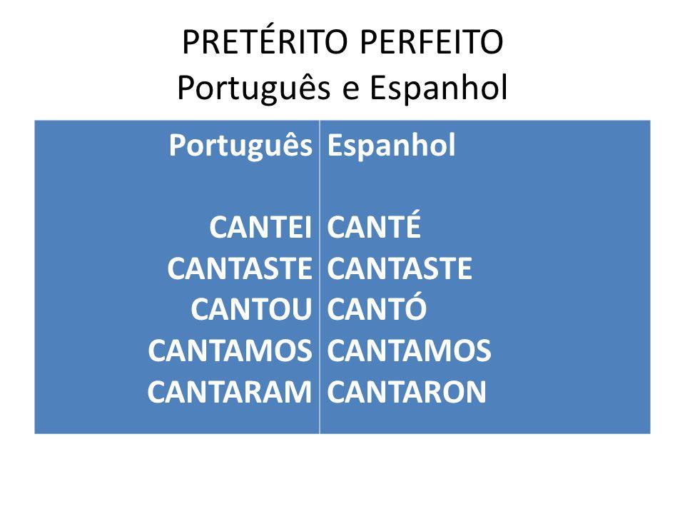 PRETÉRITO PERFEITO Português e Espanhol