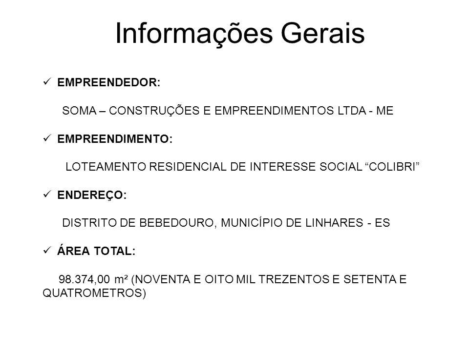 Informações Gerais EMPREENDEDOR: