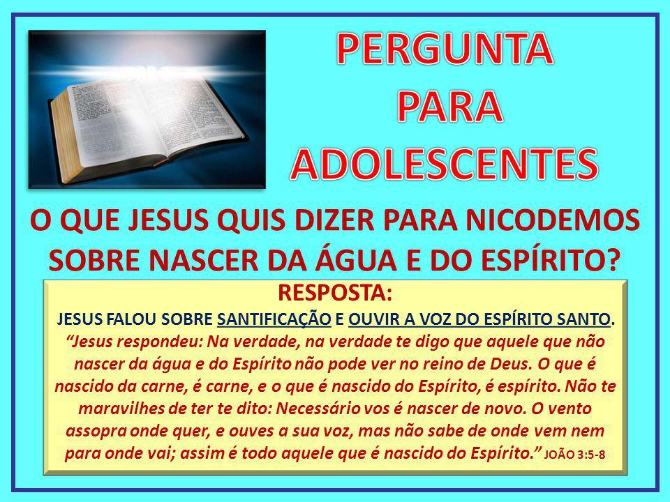 JESUS FALOU SOBRE SANTIFICAÇÃO E OUVIR A VOZ DO ESPÍRITO SANTO.