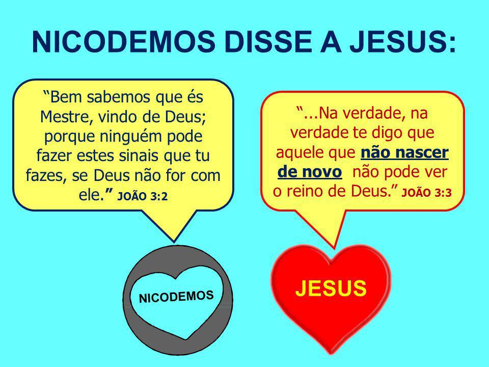 NICODEMOS DISSE A JESUS: