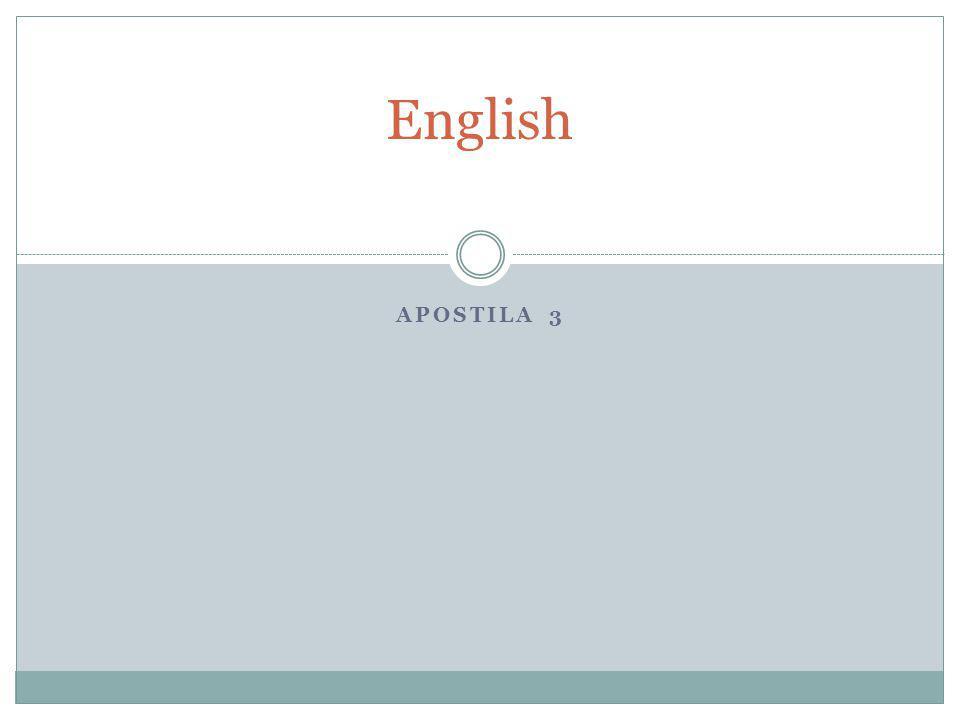 English APOSTILA 3